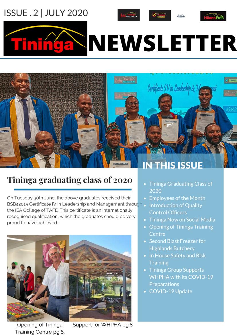 Newsletter Issue 2020 #2